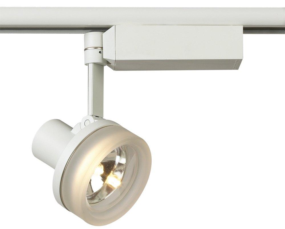 Lightolier white with glass ring mr 16 track head track lighting heads amazon com