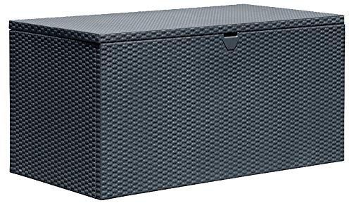 (Arrow 4' x 2' x 2' Spacemaker Anthracite 134 Gallon Hot-Dipped Galvanized Steel Storage Deck Box)