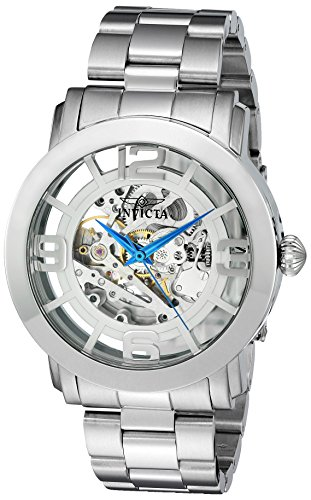 Invicta Men's Vintage Automatic Stainless Steel Casual Watch, Color:Silver-Toned (Model: ()
