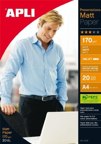 APLI 010418/20/Matte Presentation Paper 170/g 210/x 297/mm