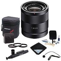 Adorama Sony Carl Zeiss 24mm F/1.8 E-Mount Camera Lens #SEL24F18Z Value Kit w/Acc