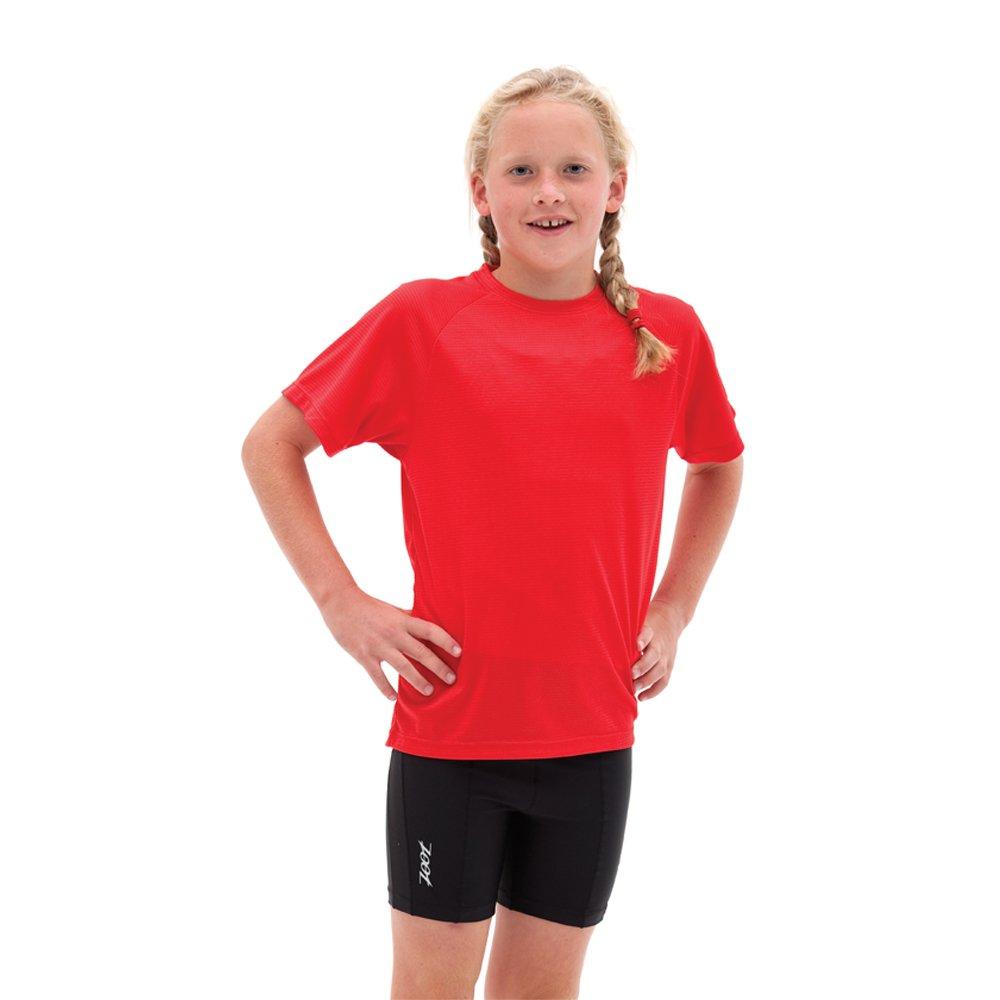 Zoot Protege Equipe Run Tech–Camiseta de manga corta camiseta, Infantil, color Rojo - Red - True Red, tamaño mediano 2611280