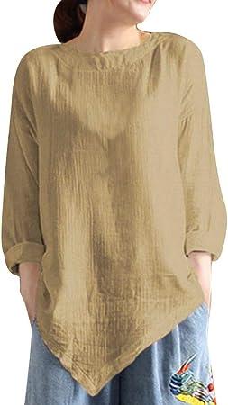 Mujeres Camiseta Blusa Pull de Manga Larga ajouré Des Retorno ...