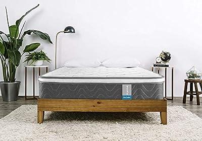 Inofia Sleeping 8 inch Hybrid Comfort Eurotop Innerspring Mattress- Plush Yet Supportive-Pressure Relief