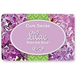 Cape Shore Lilac Scented Bar Hand/Body Soap, Pack of 3 Bars, 3oz Each.