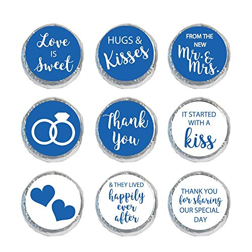 Mini Candy Stickers Wedding Favors Set of 324 (Royal Blue)