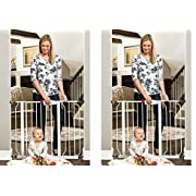 Regalo Easy Step Walk Thru Gate, White, Fits Spaces between 29  to 39  Wide (2-(Pack))