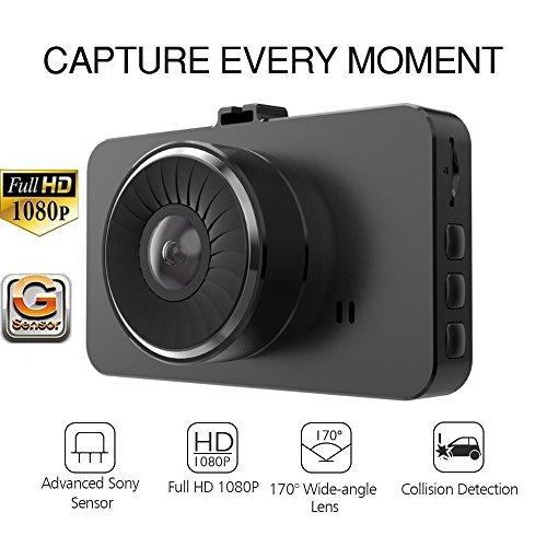 2018 SMART TECH 3.0'' LCD Full HD 1080P Car Dashboard Camera Recorder, 170 Wide Angle Dashboard Camera, Night Vision, G-Sensor, Loop Recording, WDR by SMART TECH