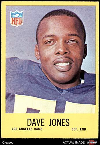 1967 Philadelphia # 90 Deacon Jones Los Angeles Rams (Football Card) Dean's Cards 3 - VG Rams