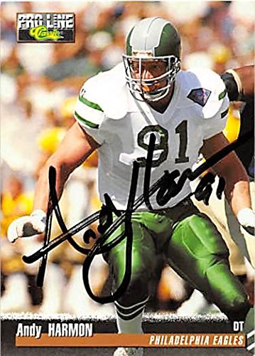 Andy Harmon autographed football card (Philadelphia Eagles) 1995 Pro Line Classic #185 - NFL Autographed Football Cards - Philadelphia Eagles Autographed Card
