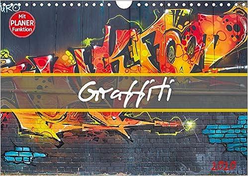 Graffiti Farben.Graffiti Wandkalender 2020 Din A4 Quer Schillernde Bunte