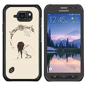 """S-type Primavera Realidad Profundo Significado Boring"""" - Arte & diseño plástico duro Fundas Cover Cubre Hard Case Cover For Samsung Galaxy S6 active / SM-G890"""