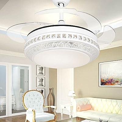 colorLED elegante color blanco Metal marco 42 cm ventilador de ...