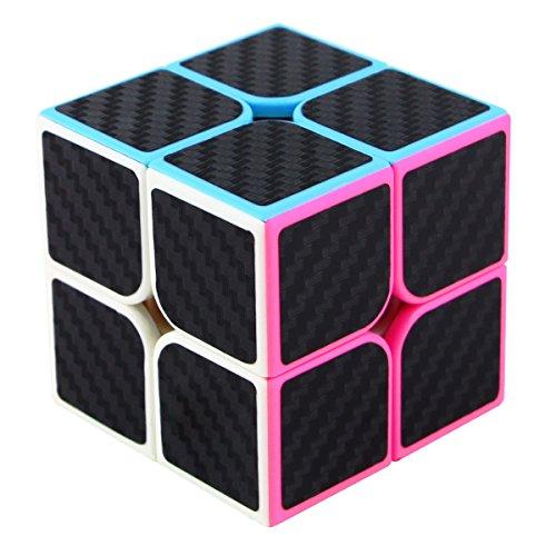 Dreampark 2x2x2 Speed Cube Carbon Fiber Sticker Smooth Magic Cube Puzzles