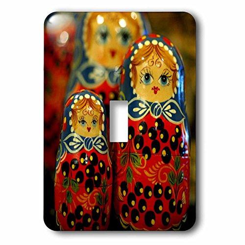 3dRose lsp_82513_1 Russia, Matrushka (Nesting) Dolls, Crafts Eu26 Cmi0062 Cindy Miller Hopkins Single Toggle Switch