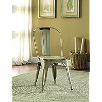 Coaster 105615 Home Furnishings Metal Chair (Set of 4), White