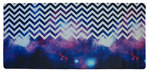 Price comparison product image Meffort Inc Extra Large Extended Gaming Desk Mat 34.75 x 15.25 inch Mouse Pad - Chevron Pattern Galaxy
