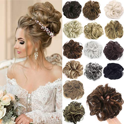 (Messy Hair Bun Extensions Chignons Hair Hair Scrunchie Scrunchy Updo Hairpiece)