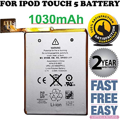 New Internal-Replacement-Battery for Model iPod Touch 5th Generation A1421 0 Cycle - Batería de repuesto