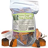 Maine Chaga Premium Tea Chunks, Small, Pre-Cubed Chunks Eliminates Need To Saw Or Hammer To Resize , Makes 34-50+ Servings, Not cultivated, 100% Wild Harvested