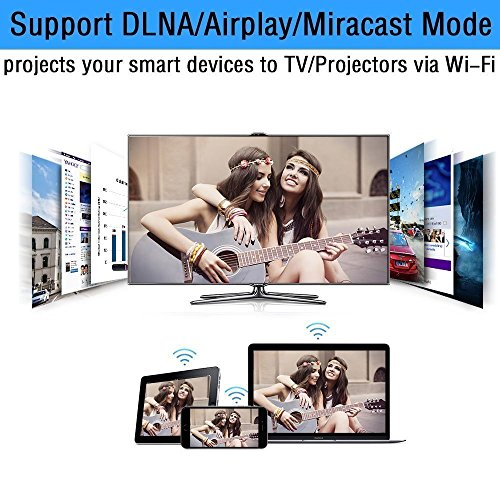 WiFi Wireless Display Dongle 1080P Mini Receiver Sharing HD Video from Projectors Cell Phones Tablet PC Support Airplay/ Chromecast/Chromecast Tv/Miracast/Miracast Dongle for Tv by Colorful lucky (Image #4)'