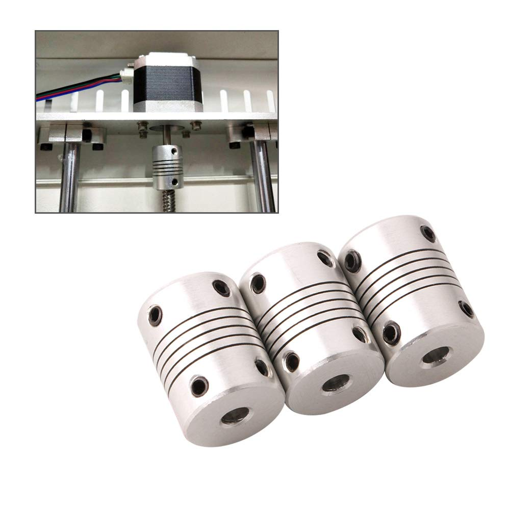 Stepper Motor Shaft Coupler with 2Pcs 2mm Allen Wrench Aluminum Alloy Joint Connector for 3D Printer CNC Machine FULARR/® 6Pcs Professional 3D Printer 5mm to 8mm Flexible Coupling