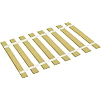 The Furniture Cove Custom Cut Bed Slat Support Boards with White Strapping for Antique or Unique Sized Beds - Twin/Full/Three Quarter Sized - Cut to the Width of Your Choice