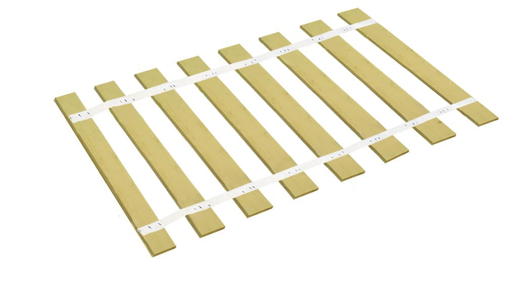 The Furniture Cove Custom Cut Bed Slat Support Boards with White Strapping for Antique or Unique Sized Beds - Twin/Full/Three Quarter Sized - Cut to the Width of Your Choice (38.25'' Wide)