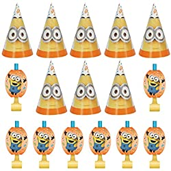 Despicable Me 3 Minions Party Bundle for 8 people (Blowouts & Hats)