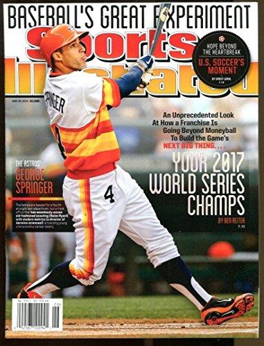 2014 George Springer Sports Illustrated 6/30/14 Newsstand No Label Astros