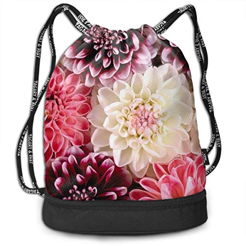 - Drawstring Backpack Dahlia Bloom Wallpaper Print Travel Sport Yoga Gym Sack Bag Outdoor Bundle Backpack Laptop Bag Beach Rucksack For Men/Women And Kids