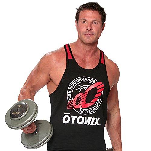 Otomix Men's Performance Bodybuilder Muscle Tank LG Black
