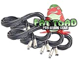 XLR Microphone Cables (6 Pack) by Fat Toad|20 ft Professional Pro Audio Mic Cord Patch with Lo-Z Connector|20 AWG Shielded Wire and Balanced for Impeccable Recording Studio Mixer|Live Sound Stage Gear