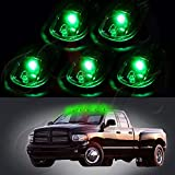 challenger fog light bulb green - cciyu Cab Marker Light 5x T10-6-3020-SMD Green Top Clearance Roof Running Bulbs with 5x Smoke Cab Roof Light Base Replacement Cab Marker Assembly for 2012-2016 Dodge Ram 1500 2500 3500 4500 5500