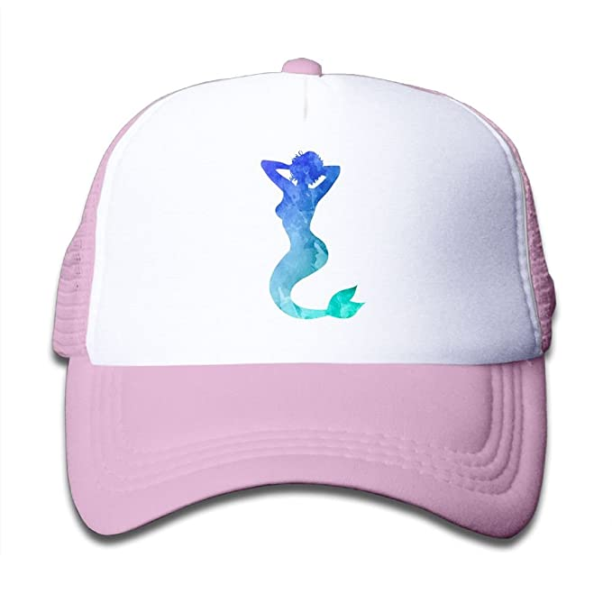 f327afa6e0e Image Unavailable. Image not available for. Color  Yaockal Toddler Baseball  Mesh Cap Blue Bling Glitter Sexy Mermaid Adjustable Trucker Hat for Kids