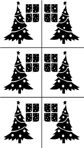 armour etch stencil rub n etch stencil christmas trees 5 inch by 8 - Amazon Christmas Trees