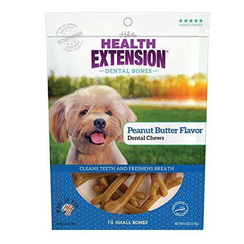 Health Extension Peanut Butter Flavor Dental Bones, 14-Pack