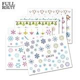 POYING Full Beauty 12 Designs Colorful Nail Sticker Winter DIY Snowflakes Nail Art Decoration Tips Water Tattoos CHBN661-672