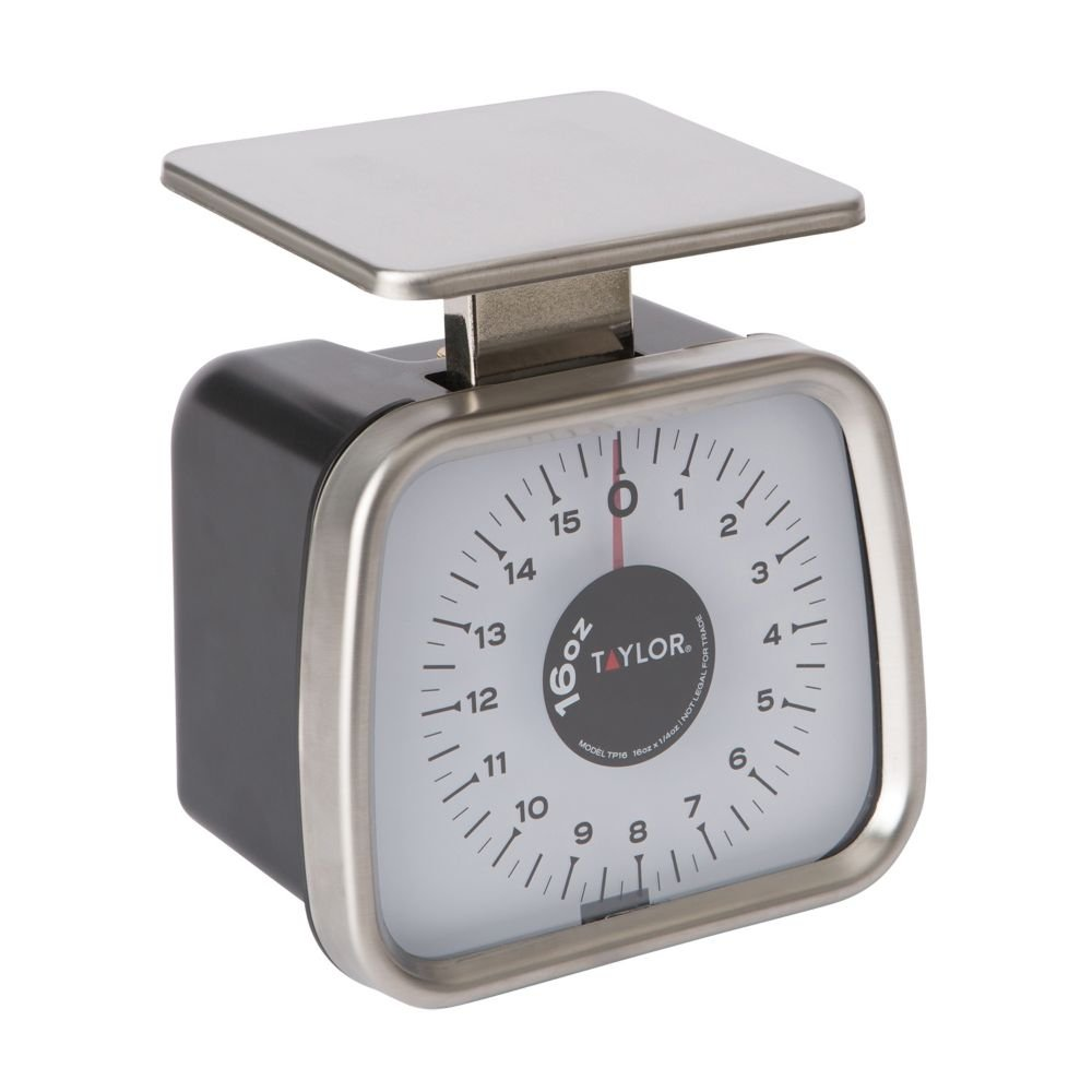 Taylor TP16 Mechanical SS Fixed Dial Portion Scale, 16 oz x 1/4 oz.