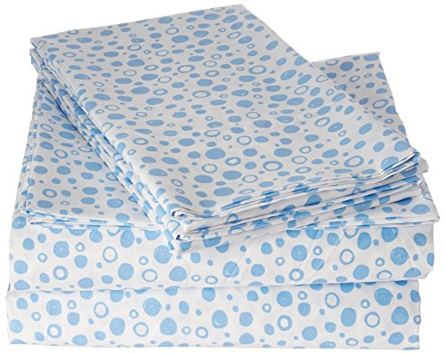 Laura Hart Kids Spring 2018 Printed Sheet Set, Twin XL, Deep Blue Sea Bubbles (Twin Set Printed)