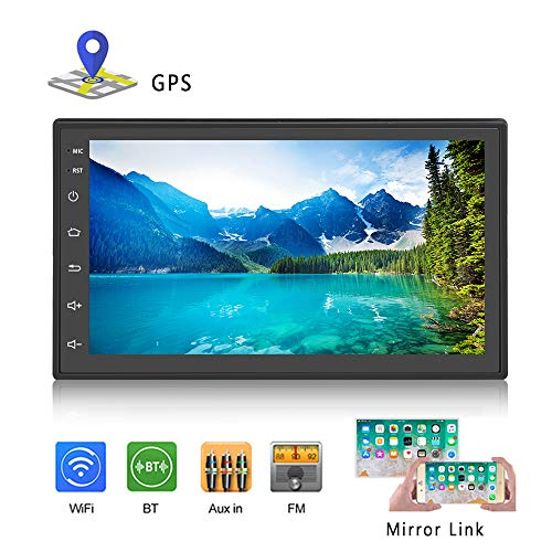 Podofo Double Din Car Stereo Android Car Radio Bluetooth 7 inches Touch Screen GPS Navigation Head Unit Support Reversing Camera/Mirror Link/USB/SD