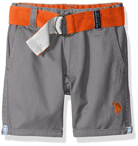 U.S. Polo Assn. Boys Belted Roll-Up Hem Twill Short