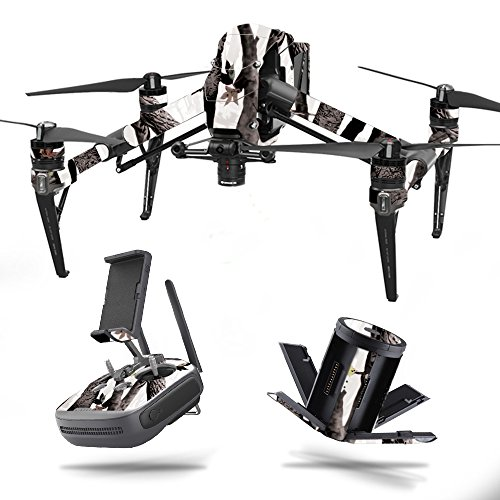 MightySkins Skin for DJI Inspire 2 – Artic Camo | Protective, Durable, and Unique Vinyl Decal wrap Cover | Easy to Apply, Remove, and Change Styles | Made in The USA For Sale