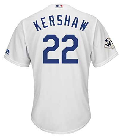 Amazon.com   Kershaw Los Angeles Dodgers World Series Home Cool Base ... 92506f7a89f
