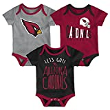 NFL by Outerstuff NFL Arizona Cardinals Newborn & Infant Little Tailgater Short Sleeve Bodysuit Set Cardinal, 12 Months