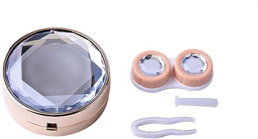 Kentop Estuche para Lentes de Contacto en Forma de Diamante Caja ...