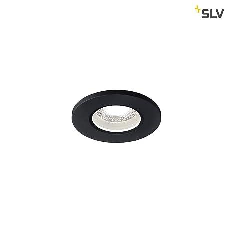 SLV kamuela Protección contra incendios techo empotrable, Aluminio, Color negro