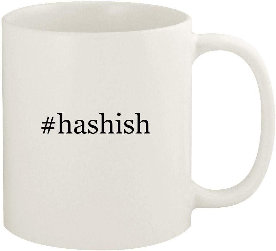 #hashish - 11oz Hashtag Ceramic White Coffee Mug Cup, White