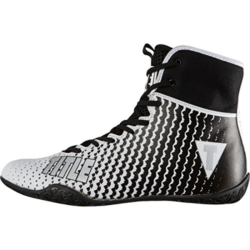 TITLE Predator II Boxing Shoes, White/Black, 10.5