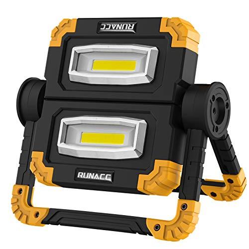 RUNACC Faltbares LED Arbeitsleuchte Baustrahler Arbeitslicht Arbeitsscheinwerfer Scheinwerfer Wiederaufladbares…